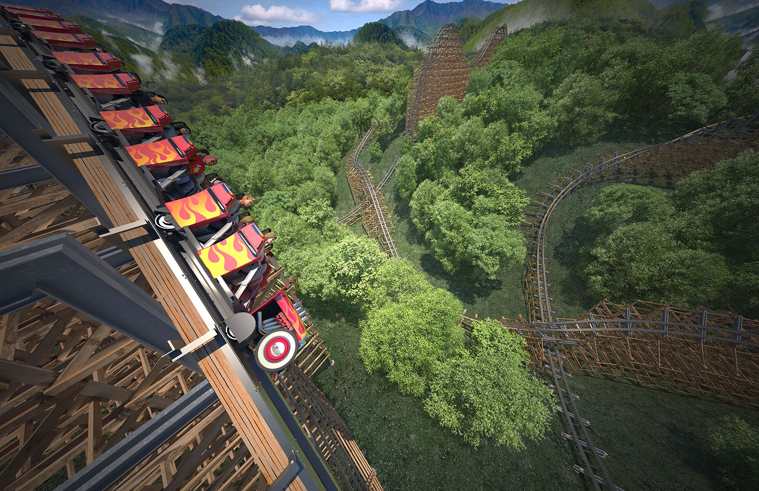 Dollywood Announces World S First Launched Wooden Coaster
