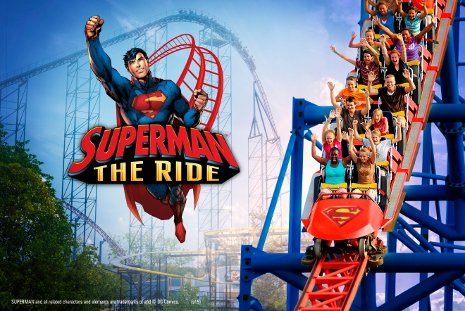 SFNE Superman the Ride Key Art